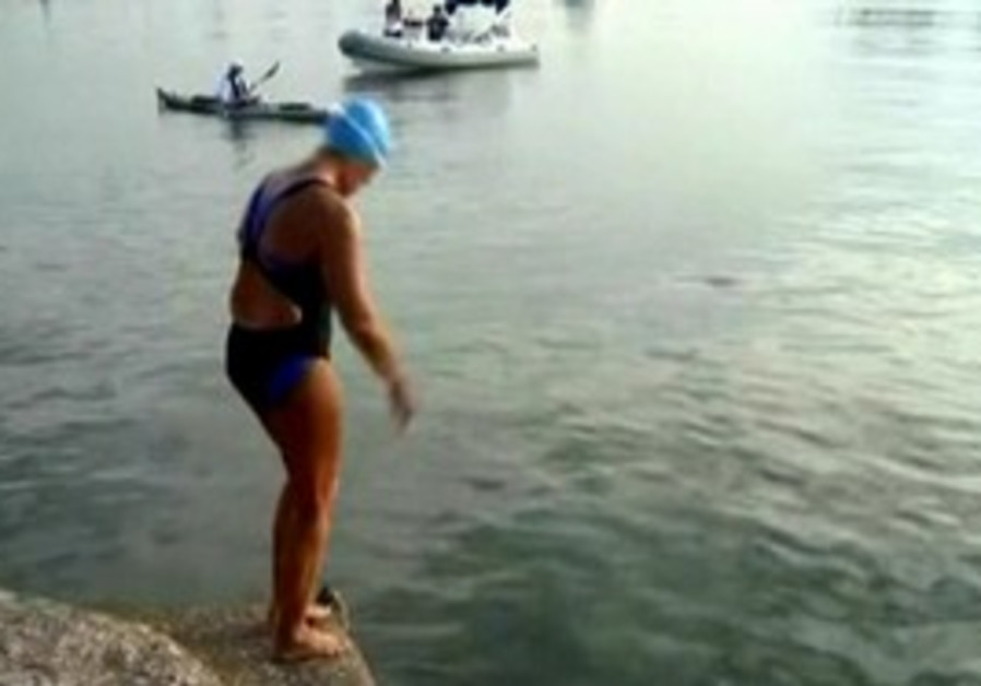 Long distance swimmer Diana Nyad.