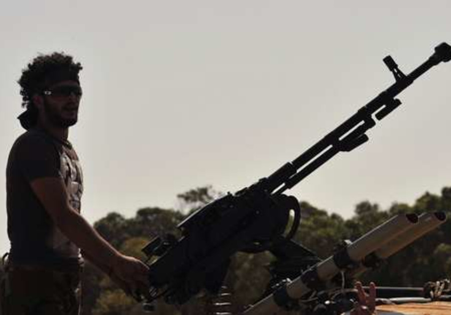 Anti Gaddafi fighter