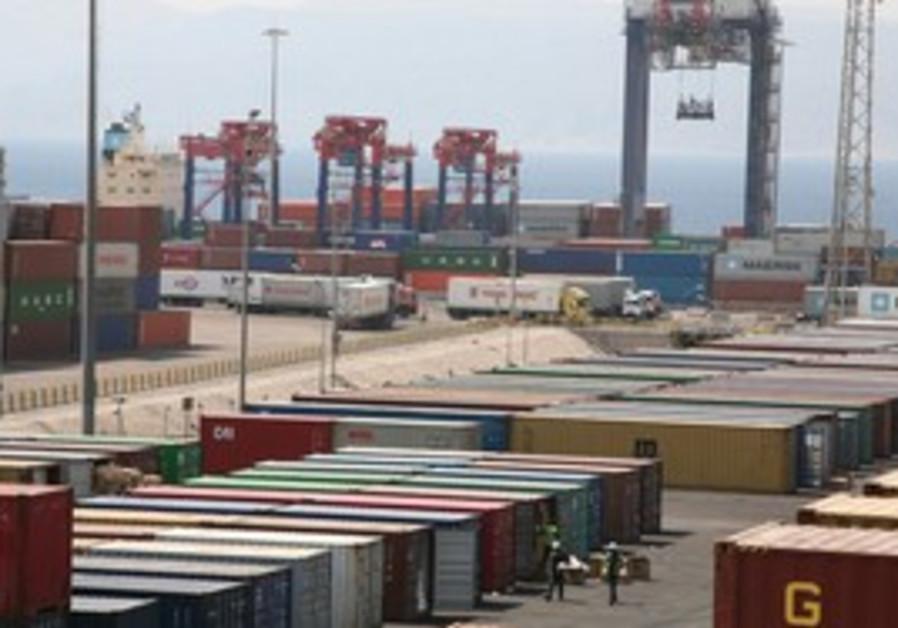 Aqaba port in Jordan