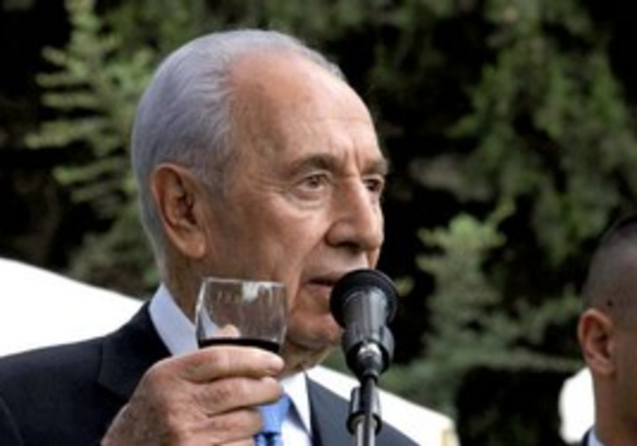 President Shimon Peres at New Year's reception