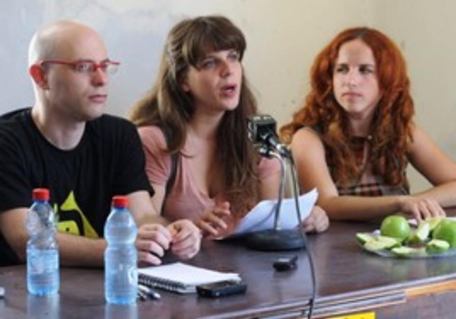 Protest leaders Dafni Leef, Stav Shafir