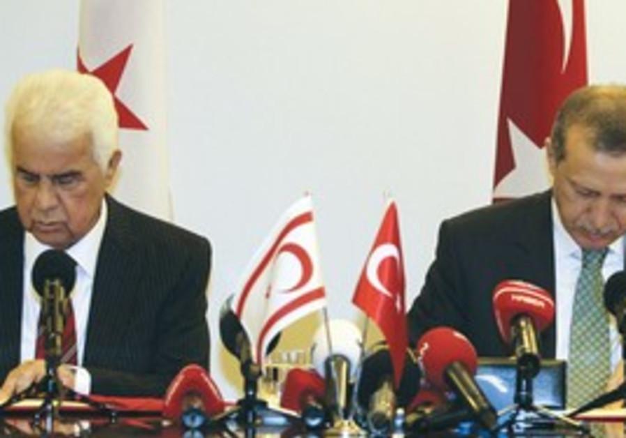 Turkish PM and Turkish Cypriot Leader Dervish Erog