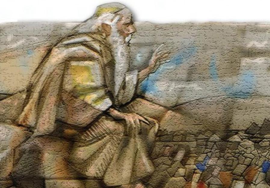 Art depicting Moses