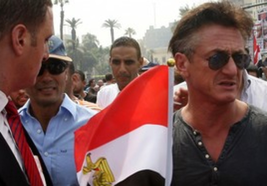 Sean Penn at Tahrir Square