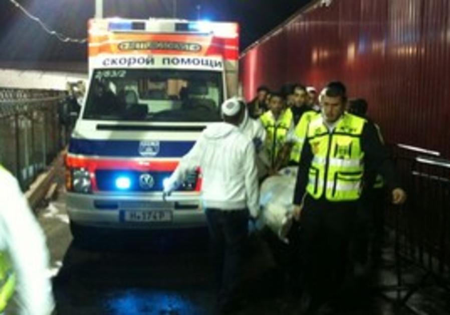 ZAKA volunteers evacuate drowning victim in Uman