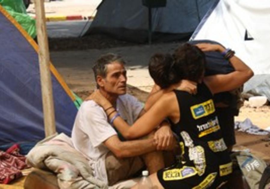 Tent encampment on Rothschild