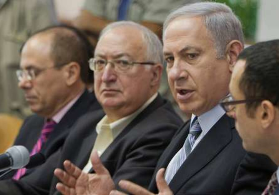 Prime Minister Netanyahu attends cabinet meeting
