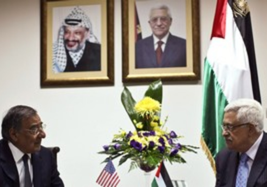 Abbas metts US Secretary of Defence Panetta