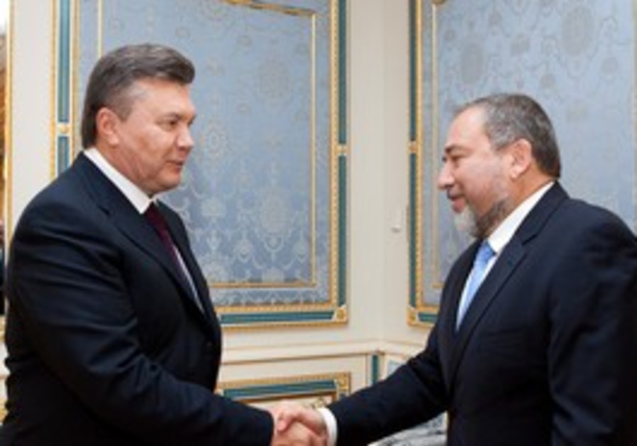 Ukraine President V. Yanukovich with Lieberman