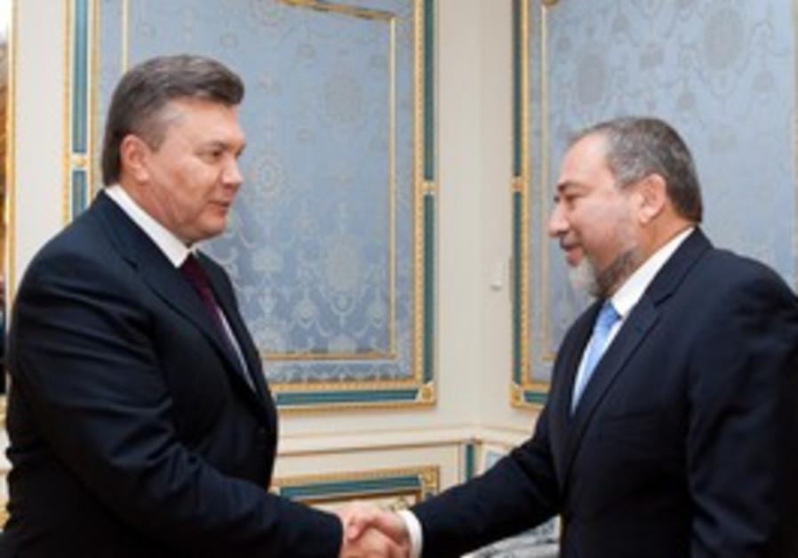 Ukraine President V. Yanukovich with Lieberman