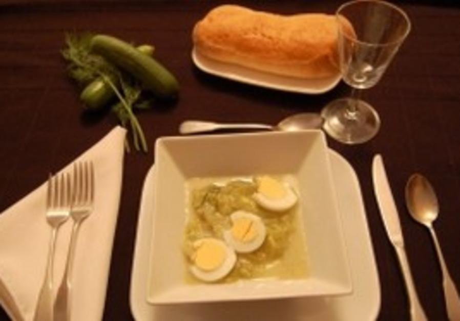 Persian Yogurt and Cucumber Soup
