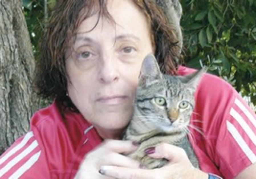 Susan with one of the kittens