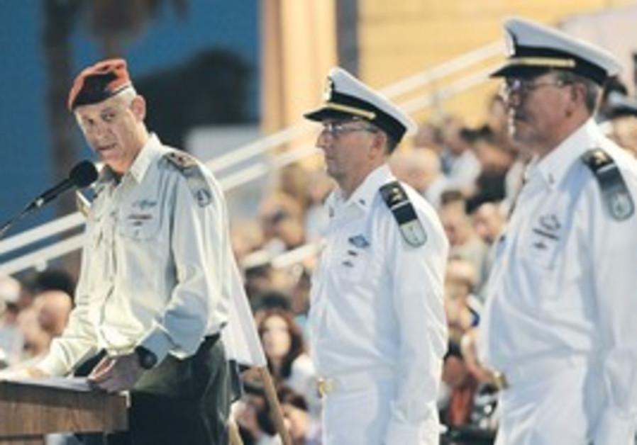 Gantz at Navy ceremony in Haifa