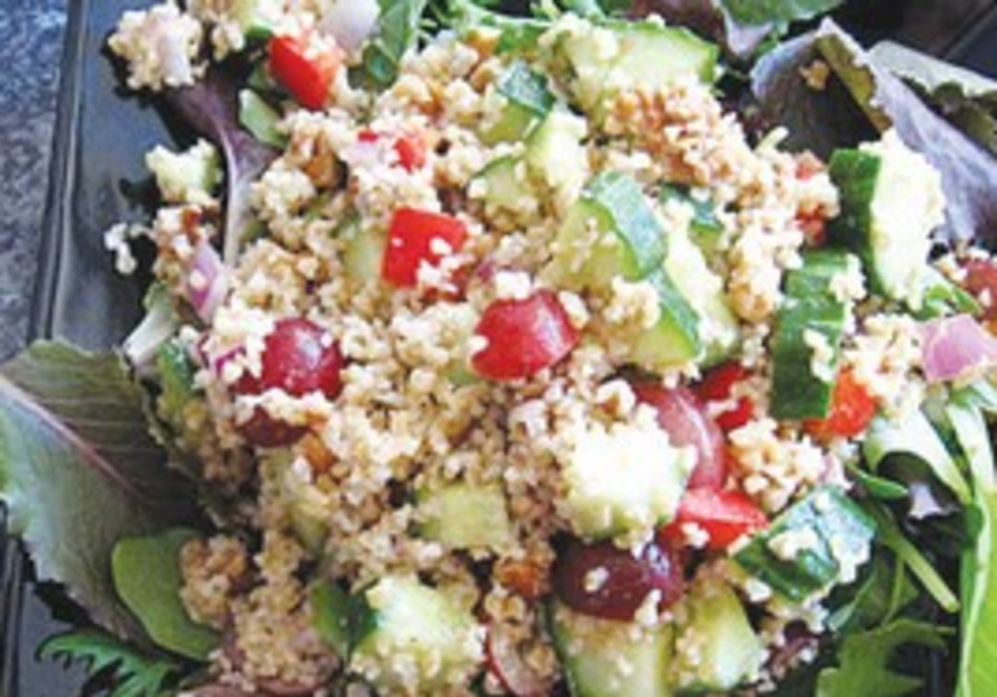 grape and bulgur salad