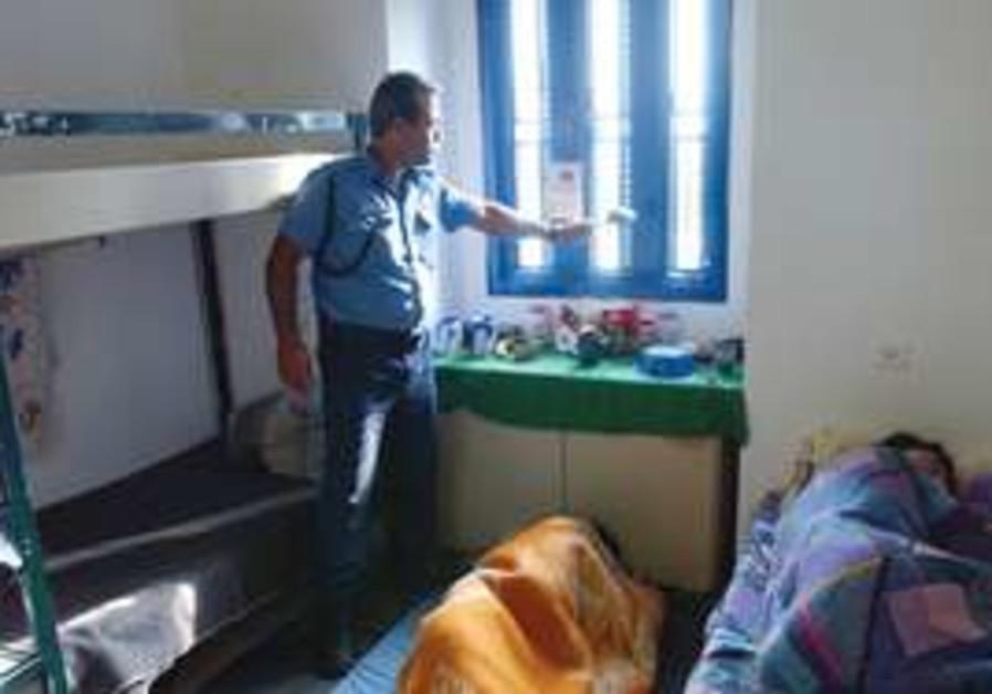 A warden at the Hadarim Prison near Netanya