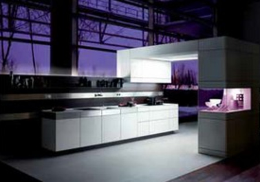 ARTESIO KITCHEN AT NIGHT WITH ATMOSPHERE LIGHTING