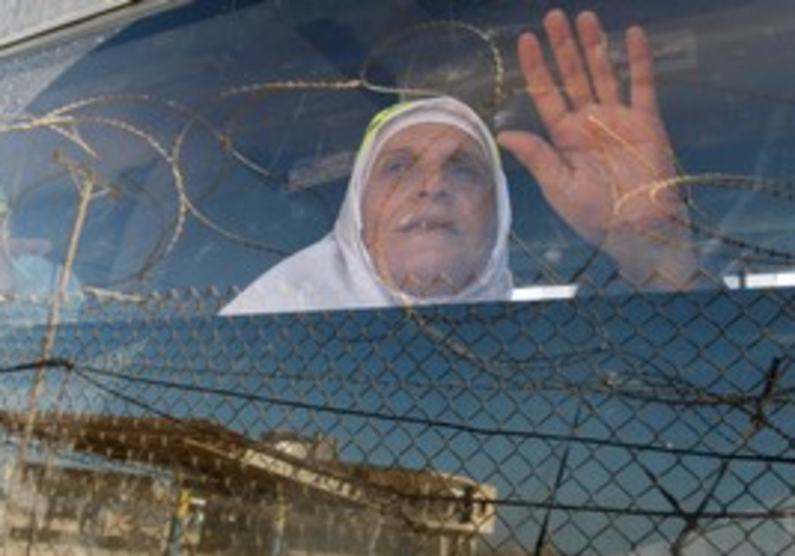 Palestinian woman on bus [illustrative]