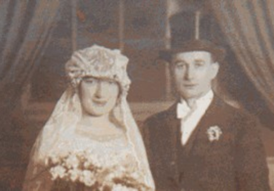 Lewis and Dora Silver on their wedding day