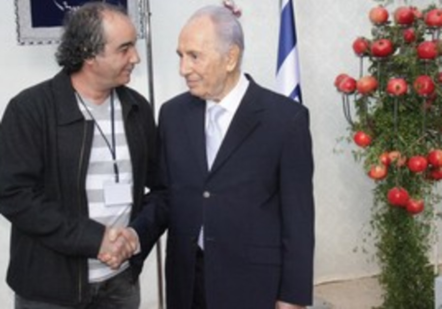 Shlomo Maman and Shimon Peres.
