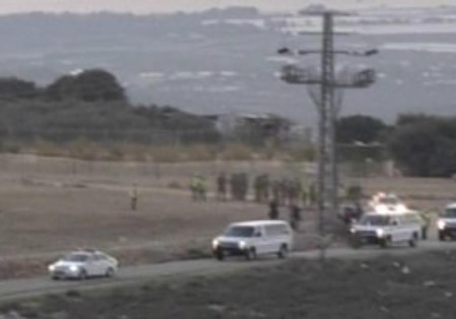 Gilad Schalit arrives in Mitzpe Hila