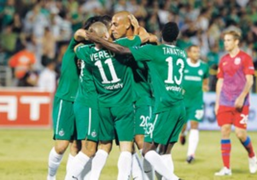 Macabbi Haifa players celebrate