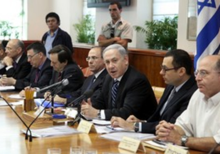 PM Netanyahu at weekly cabinet meeting