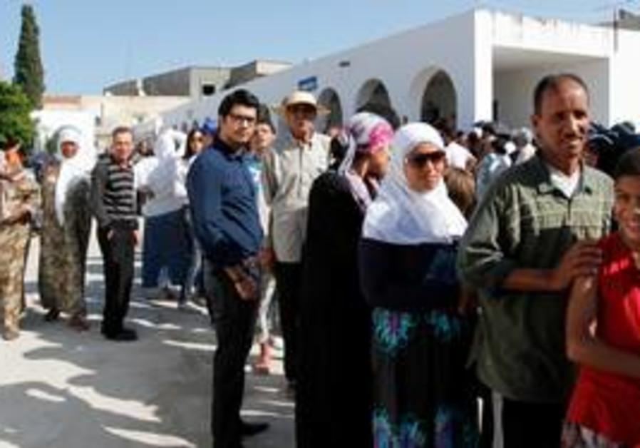 Voters line up in Tunisia