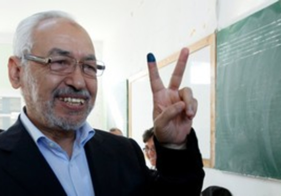Rached Ghannouchi, head of Tunisia's Ennahda party