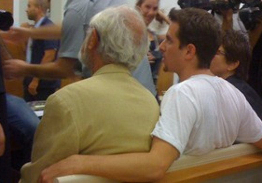 Tal Mor with his father Itzik in court on Sunday