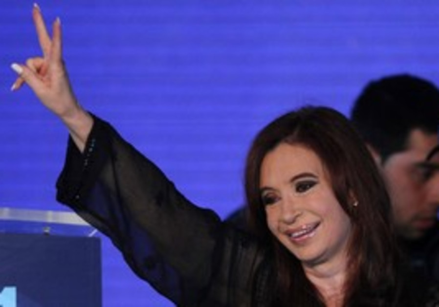 Cristina Fernandez de Kirchner wins re-election.