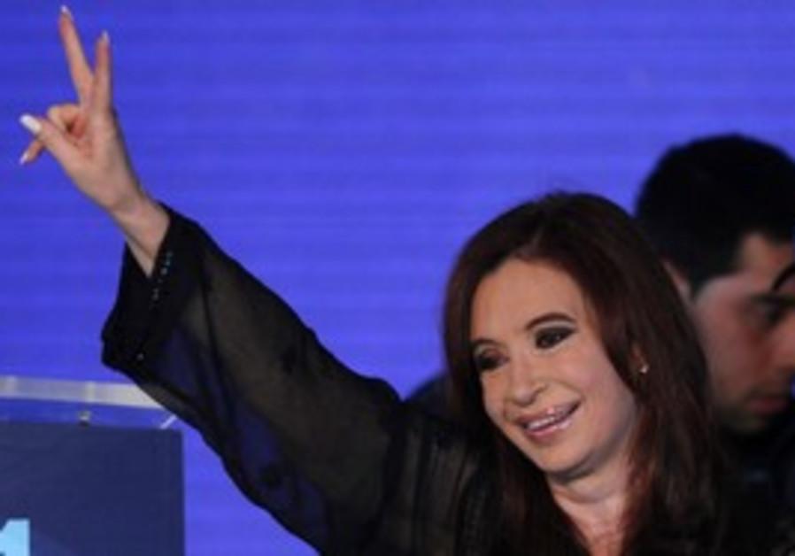 Cristina Fernandez de Kirchner wins re-election.
