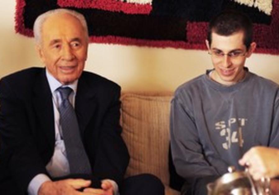 President Shimon Peres with Gilad Schalit