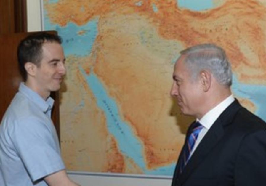 Ilan Grapel meets with Netanyhau