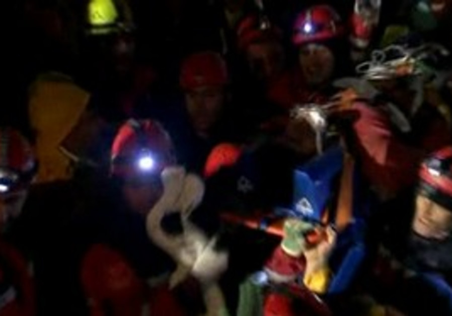 Man found alive 100 hours after quake.