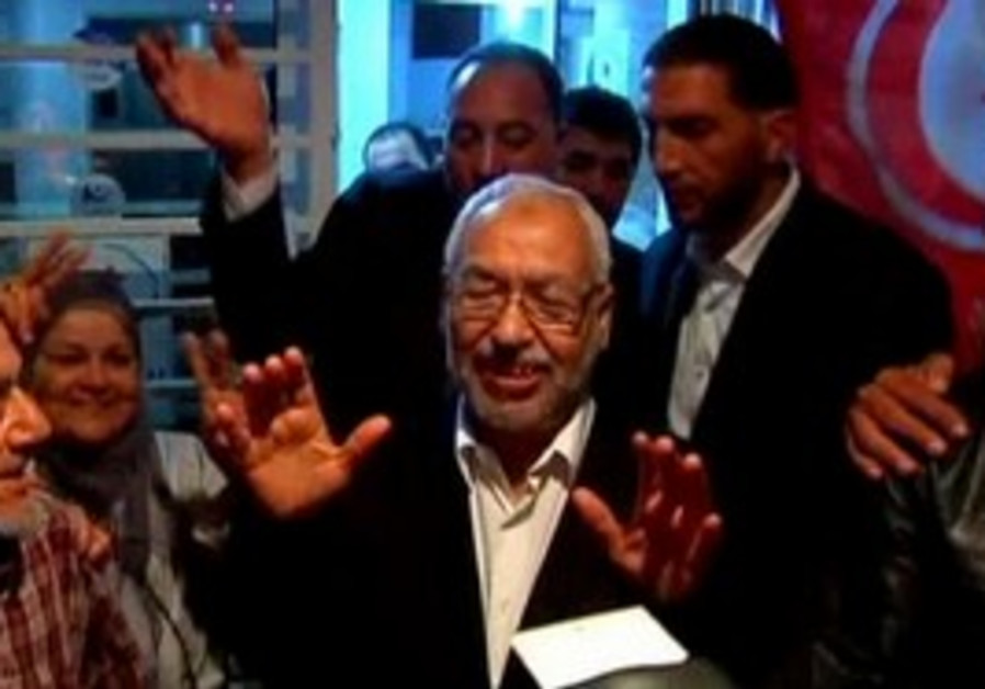 Islamist Ennahda party wins Tunisian elections.