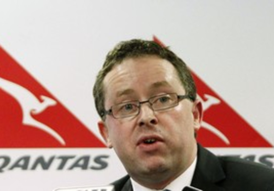 Qantas CEO Alan Joyce at Sydney news conference.