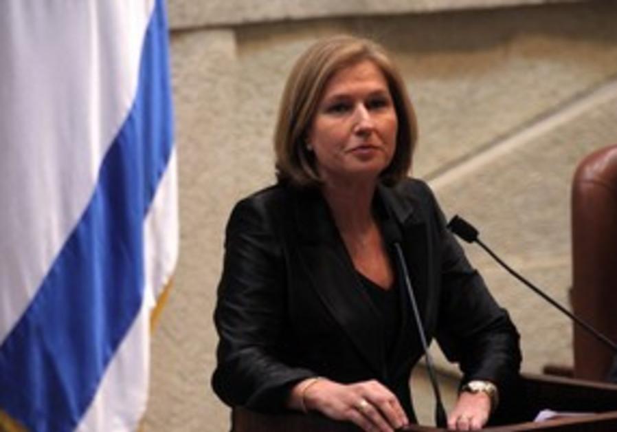 Livni in Knesset