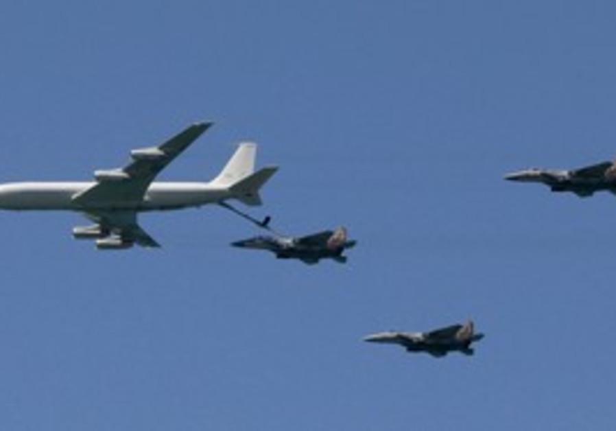 F15s refueling in-flight (illustrative)