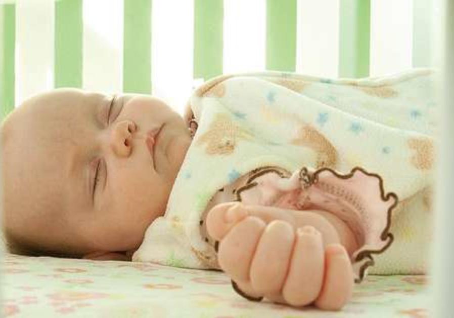 Baby in crib 521