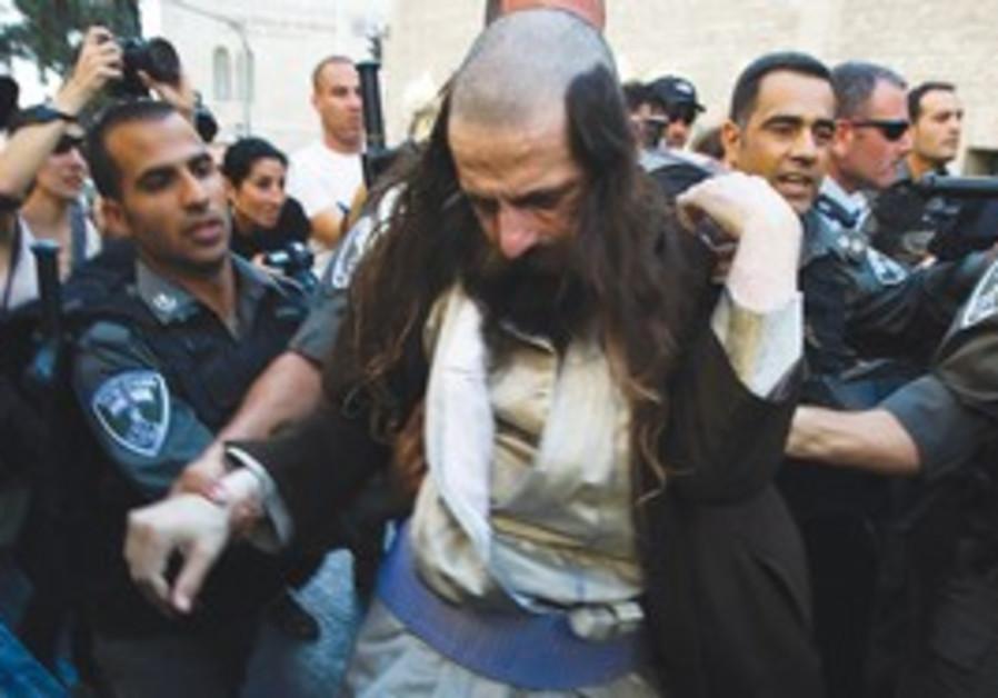 Protester is arrested in Jerusalem