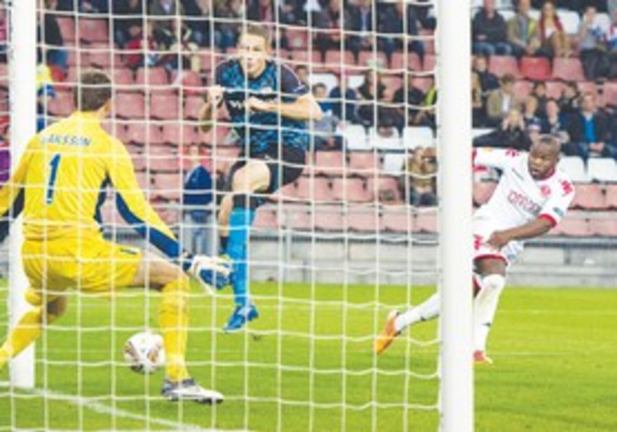 Toto Tamuz scored a pair of goals for Hapoel TA