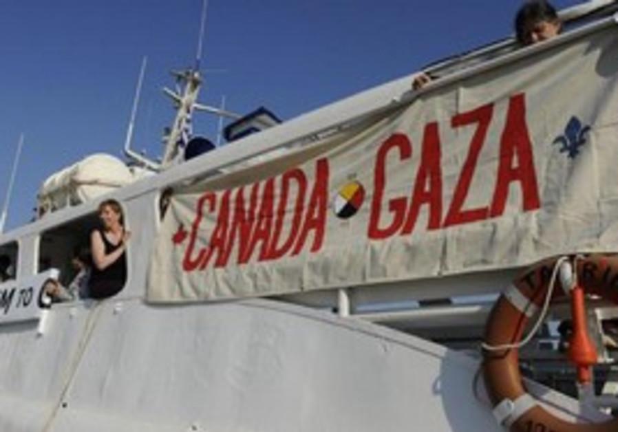 "Gaza-bound Canadian boat ""Tahrir"""
