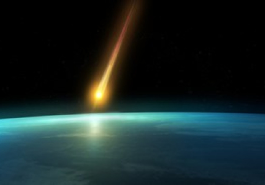 An asteroid passes close to Earth [illustrative]