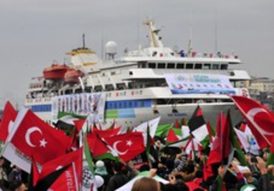 Welcoming ceremony for the Mavi Marmara