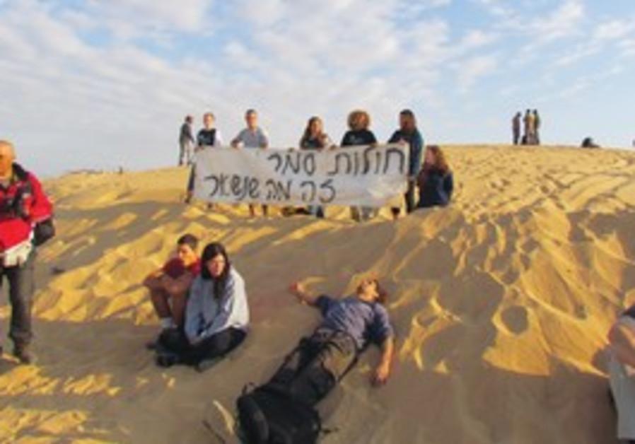 Samara sand dunes protest