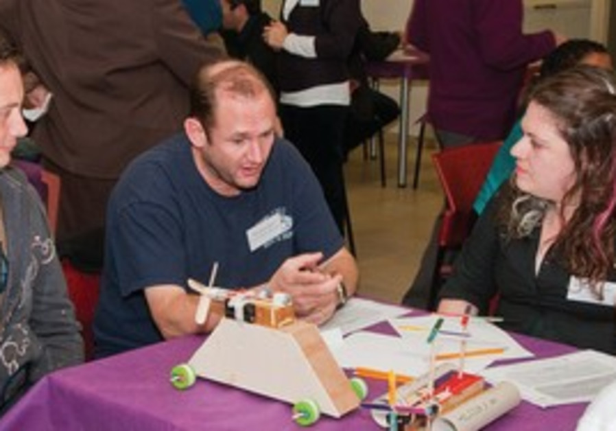 Toy inventors meet with students