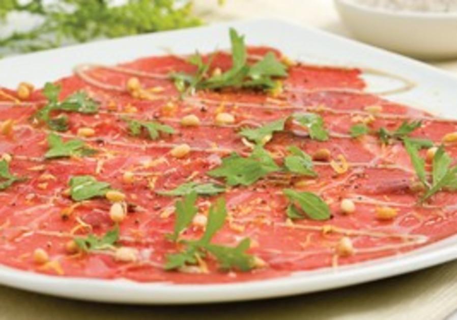Carpaccio dish