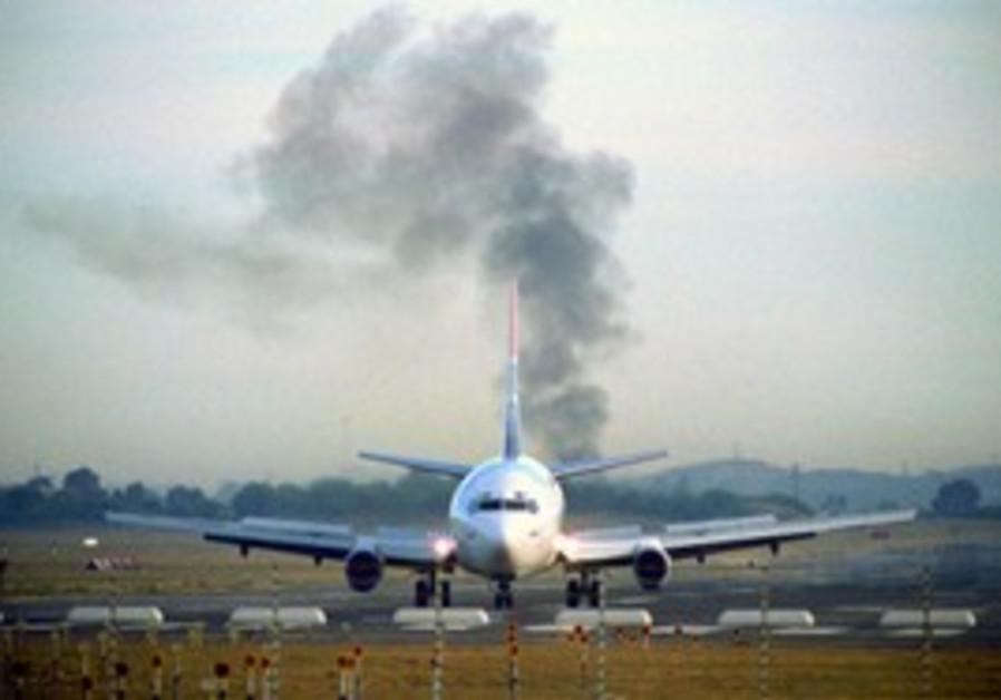 airplane, smoke [illustrative]