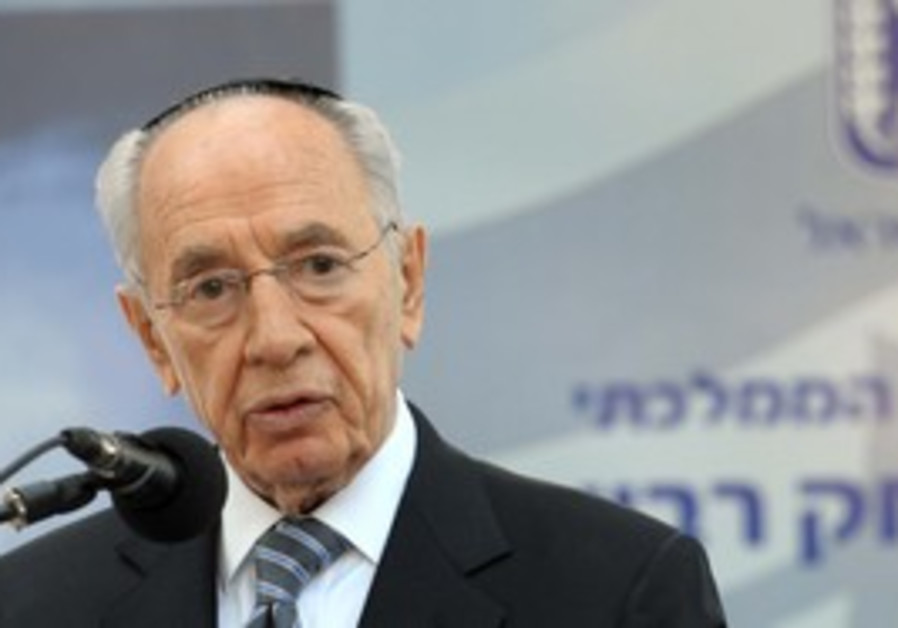 President Shimon Peres at Rabin memorial