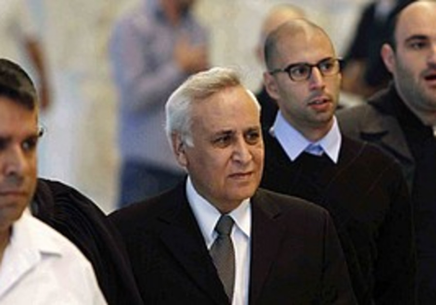 Katsav in court, Thursday